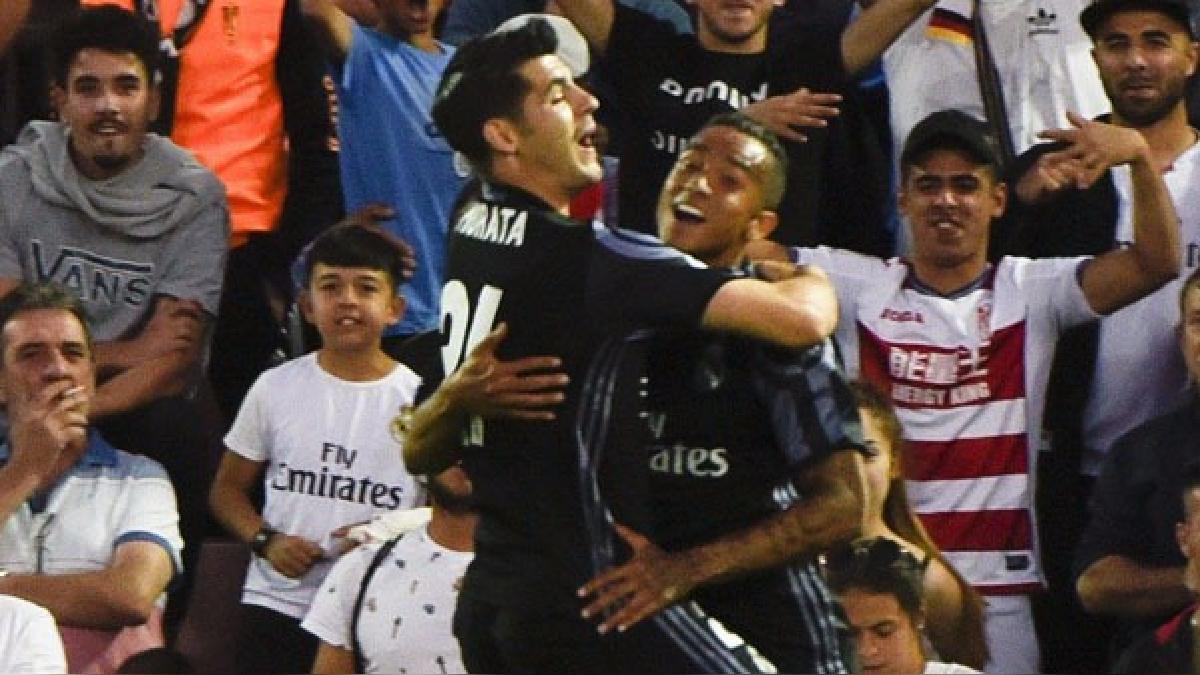 Álvaro Morata sumó 20 goles en la temporada con Real Madrid.