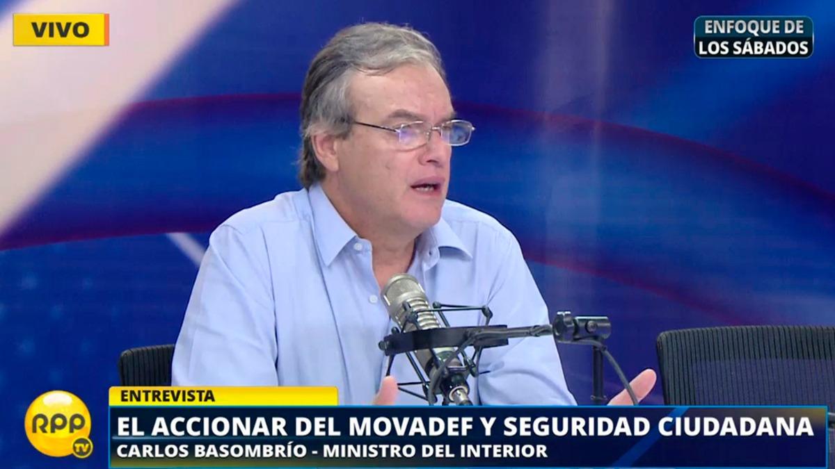 Carlos Basombrío habló sobre la polémica por la marcha en la que se infiltró el Movadef el lunes 1 de mayo.