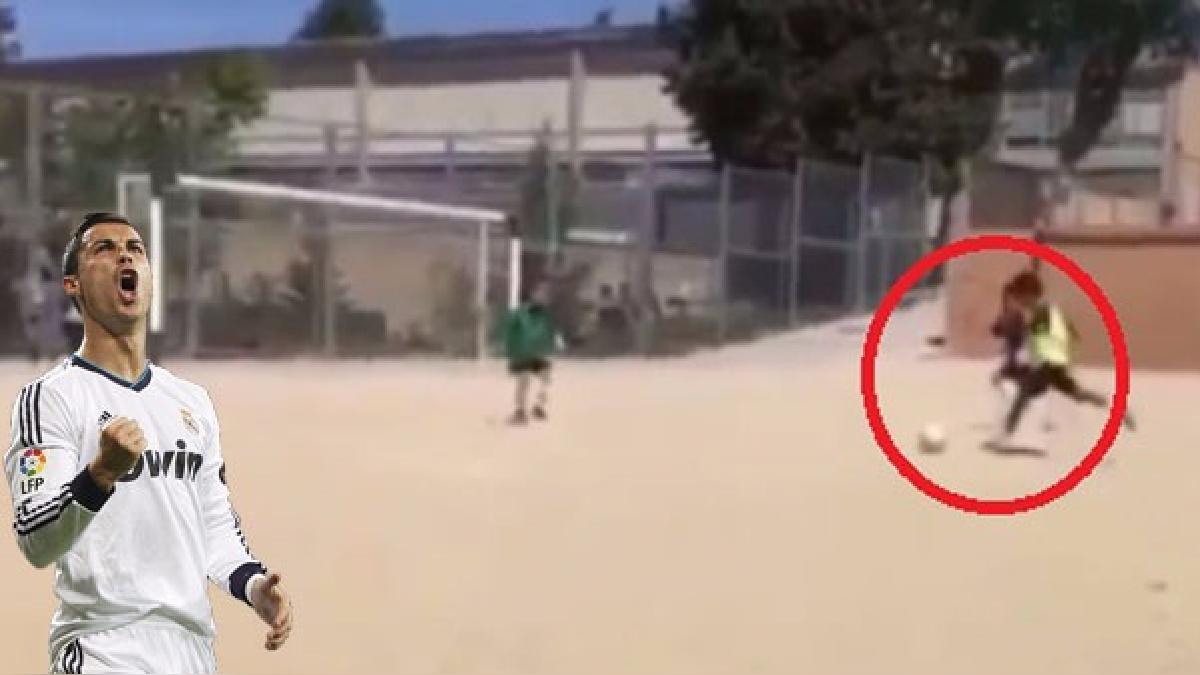Cristiano Ronaldo celebró el gol de su hijo.