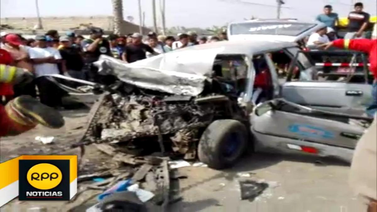 El lamentable accidente se produjo luego que el vehículo particular  invadiera el carril contrario.