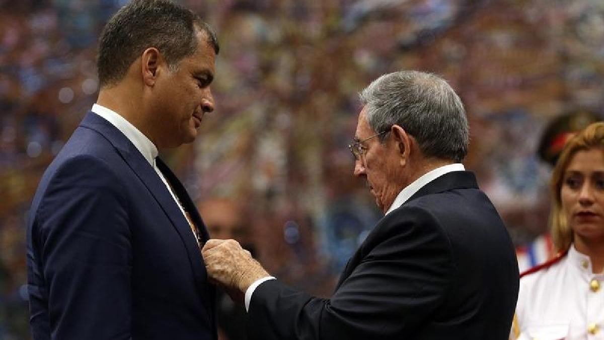 El último viaje de Rafael Correa como presidente de Ecuador fue a Cuba.