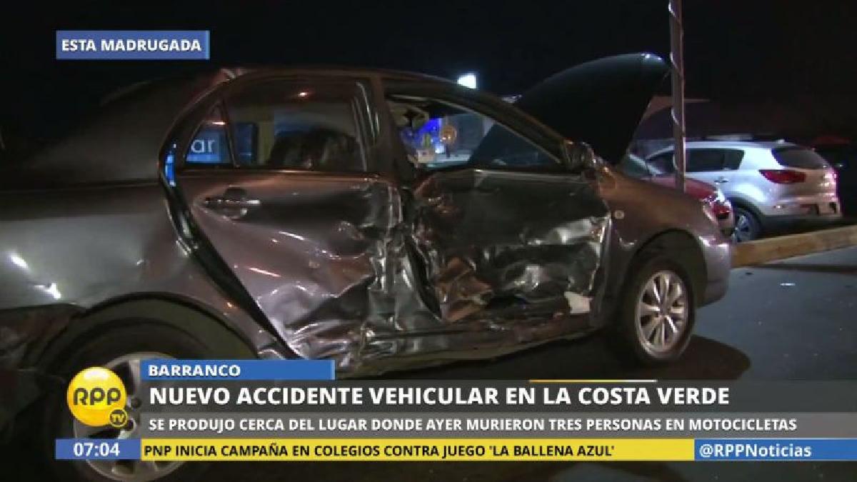 El accidente ocurrió a pocos metros del trágico choque de ayer, que dejó tres muertos.
