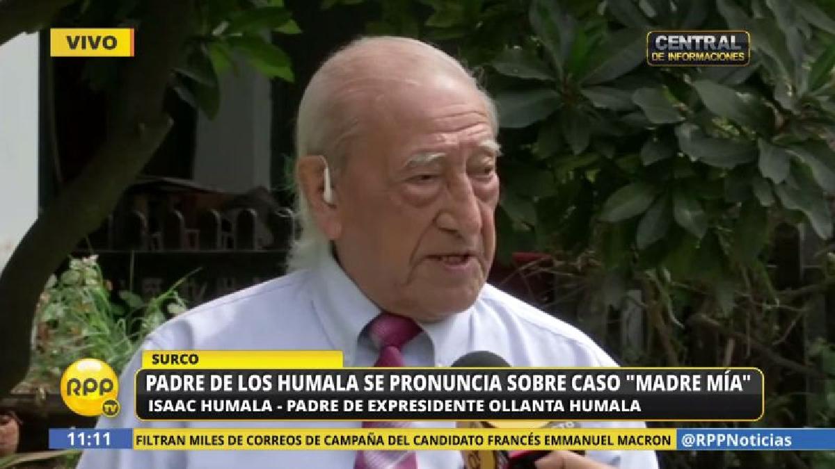 Isaac Humala dice tener la convicción de que su hijo, Ollanta, no es un asesino.
