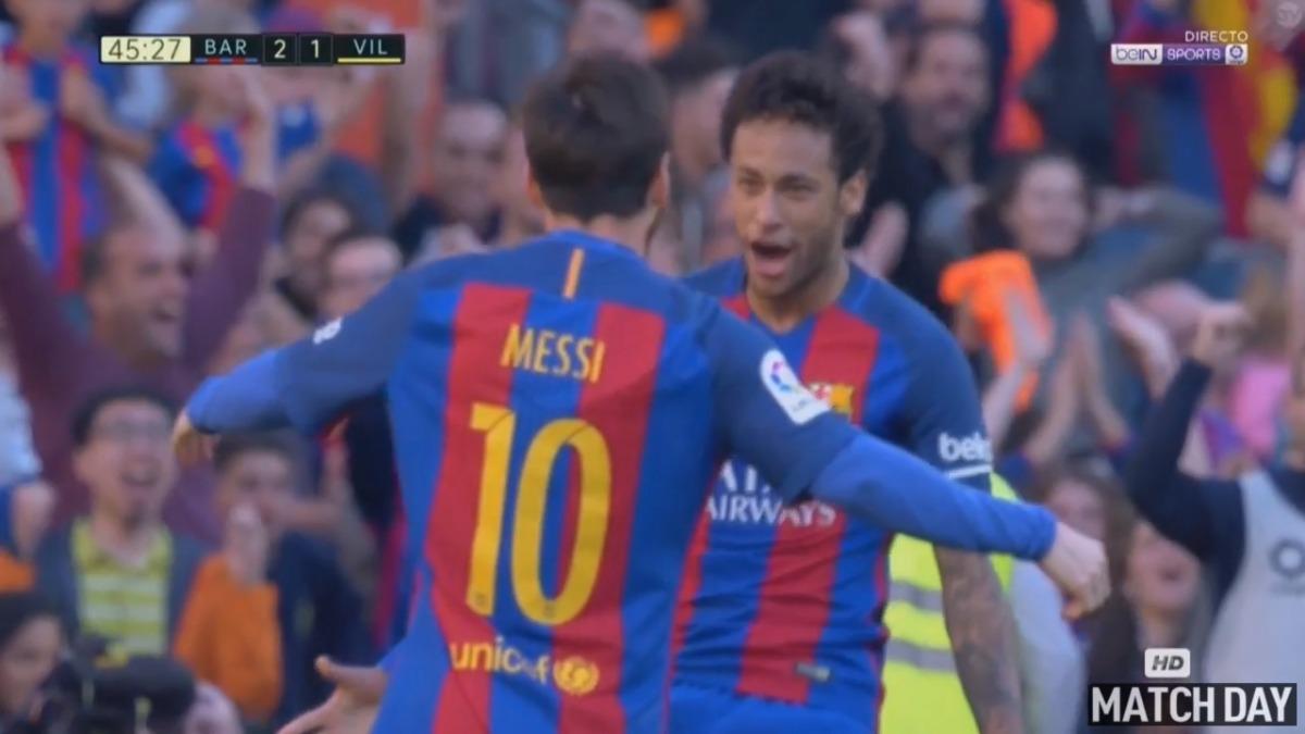 Lionel Messi puso el 2-1 parcial a un minuto del entretiempo en el Camp Nou.