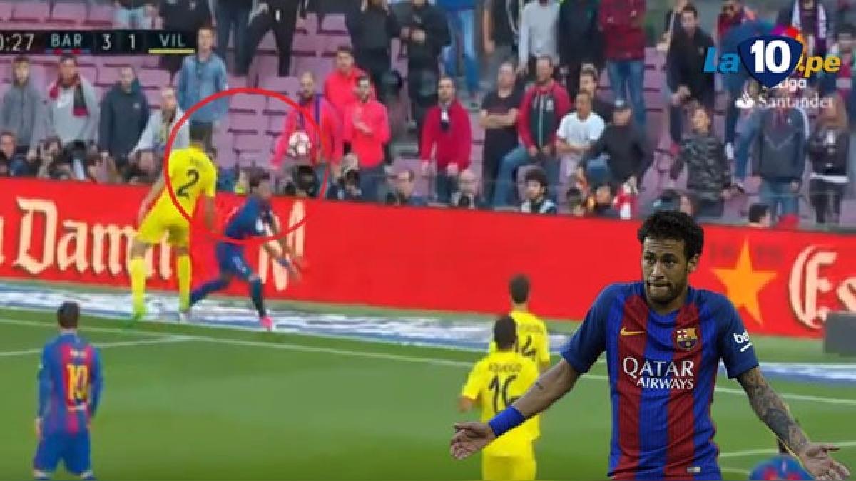 Neymar hizo este lujo que provocó un penal para Barcelona.
