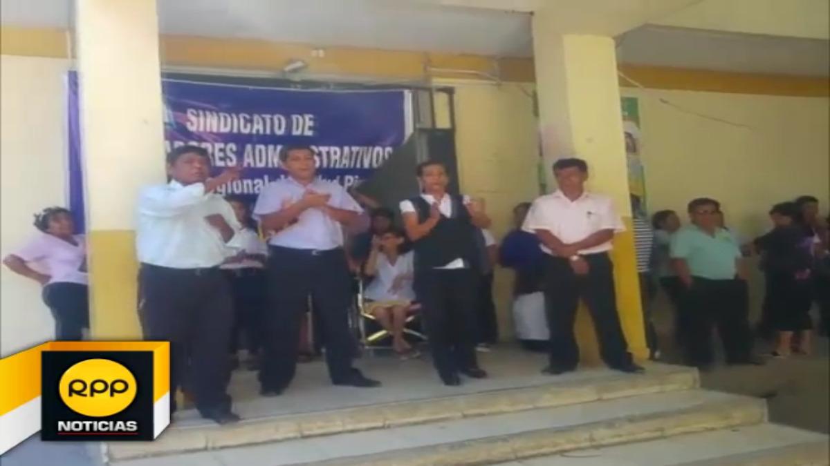 Los manifestantes tomaron el local de la Dirección Regional de Salud Piura para radicalizar su medida de fuerza.