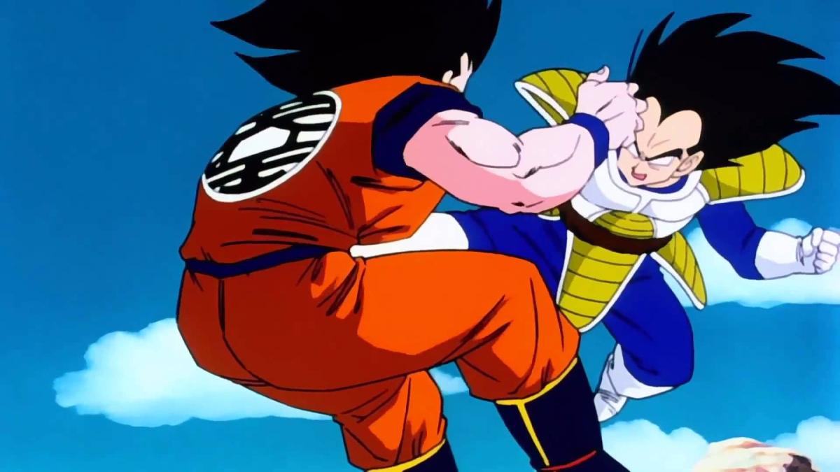 La primera aparición de Vegeta en la serie fue para pelear contra Gokú.