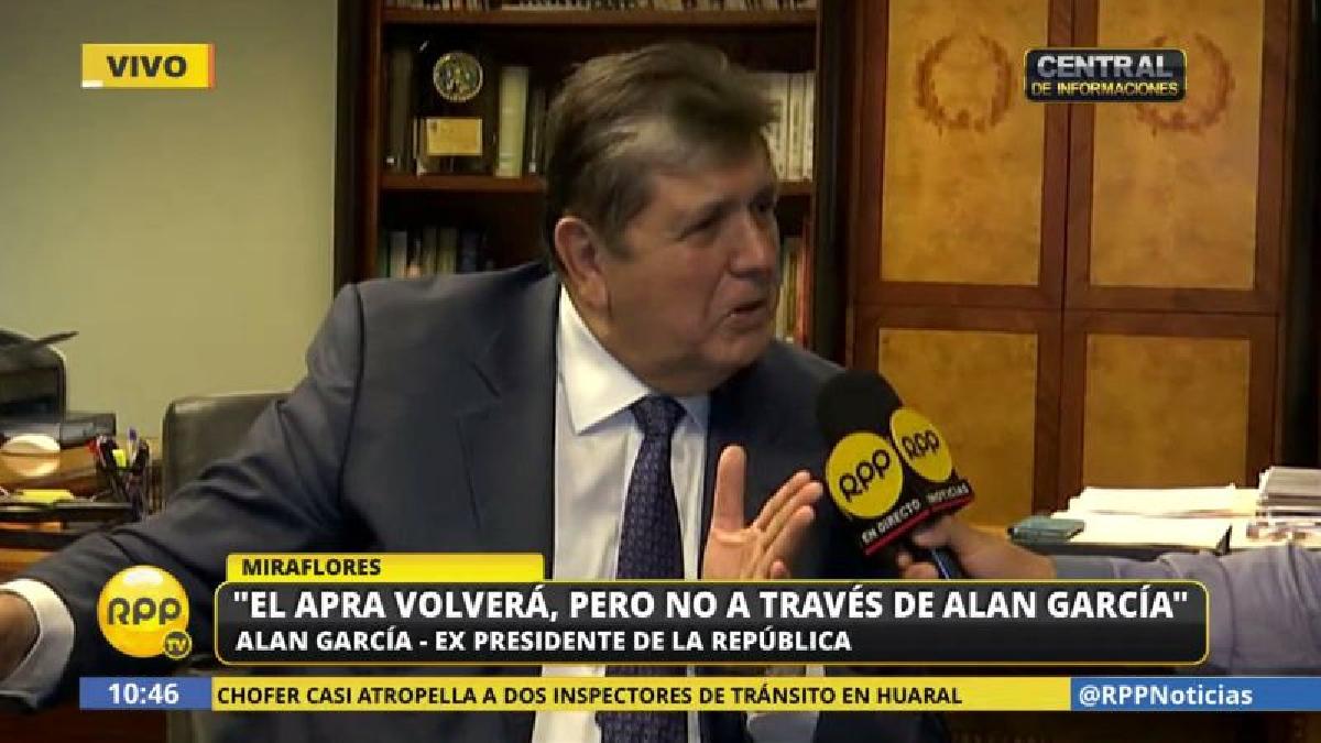 """Alan García reiteró su inocencia en el caso Odebrecht. """"El que tiene ego colosal no recibe propinitas"""", se defendió."""
