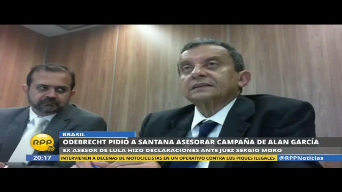 La declarción de Joao Santana es de marzo de este año.