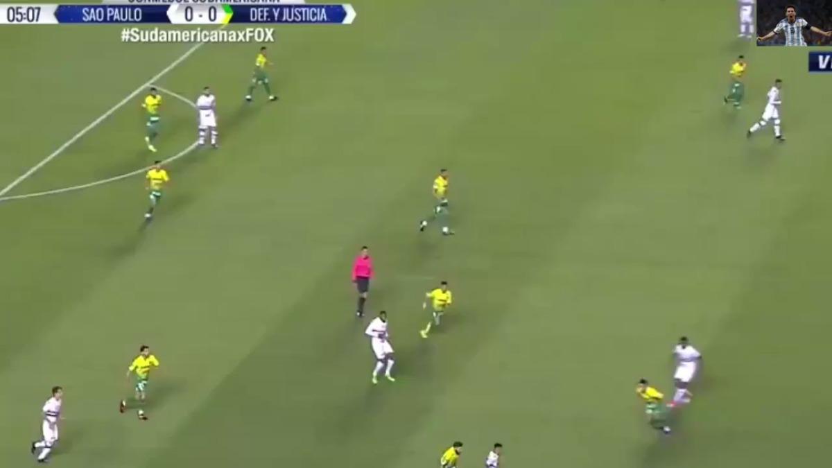 Sao Paulo empató 1-1 con Defensa y Justicia. Quedó eliminado por el gol de visitante de los argentinos.
