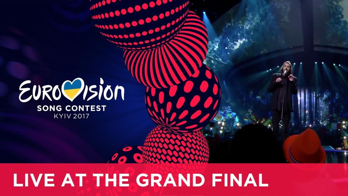 Salvador Sobral en la final del Eurovisión 2017
