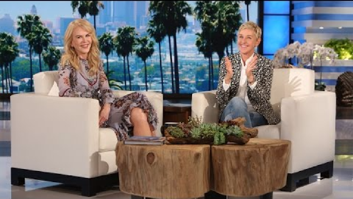 Nicole Kidman estuvo de invitada en el show de Ellen DeGeneres.