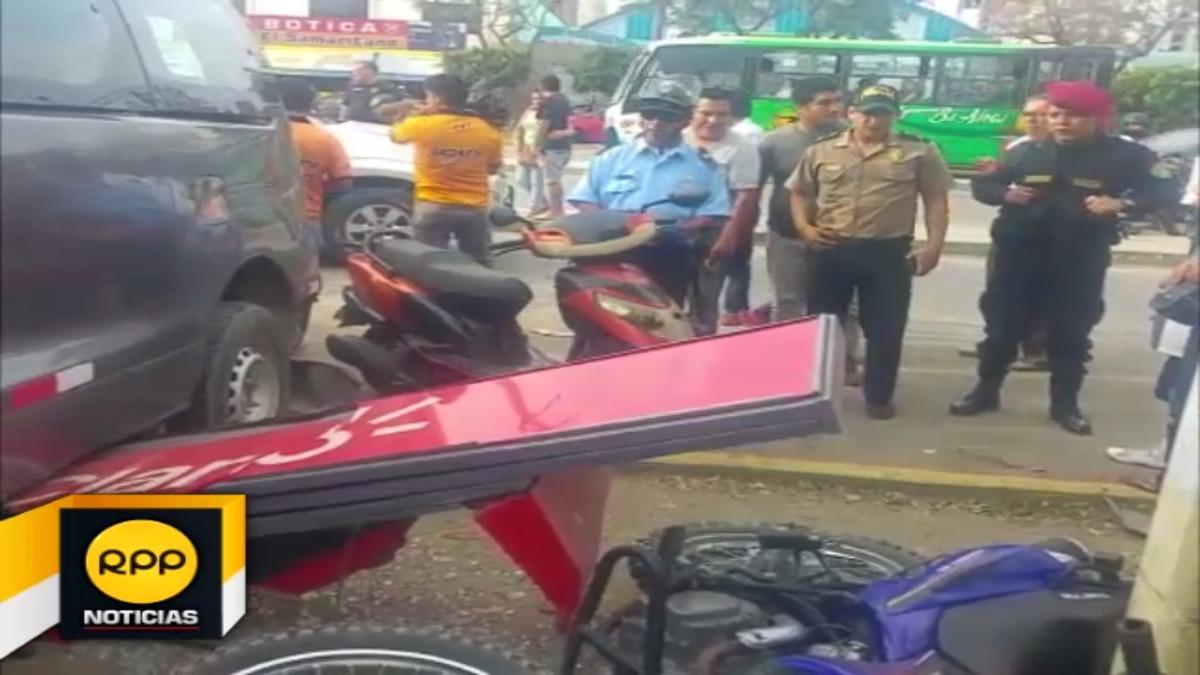 Accidente ocurrió en las afueras de Hospital Regional.