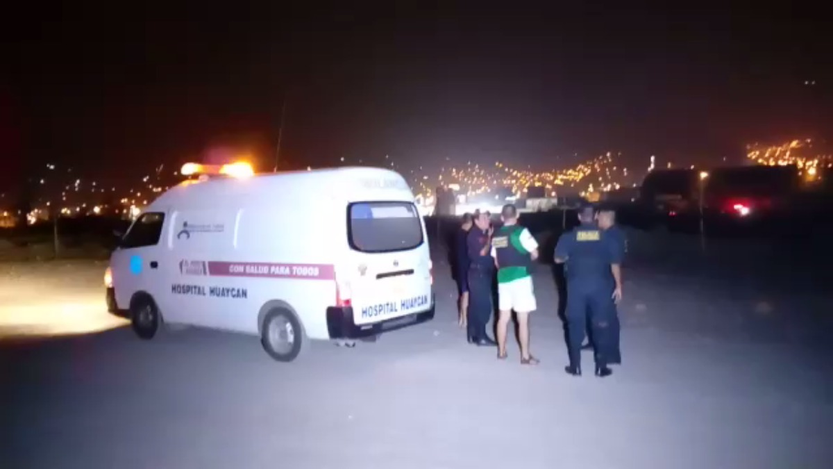 El traslado del suboficial desde Huaycán hacia un centro hospitalario.