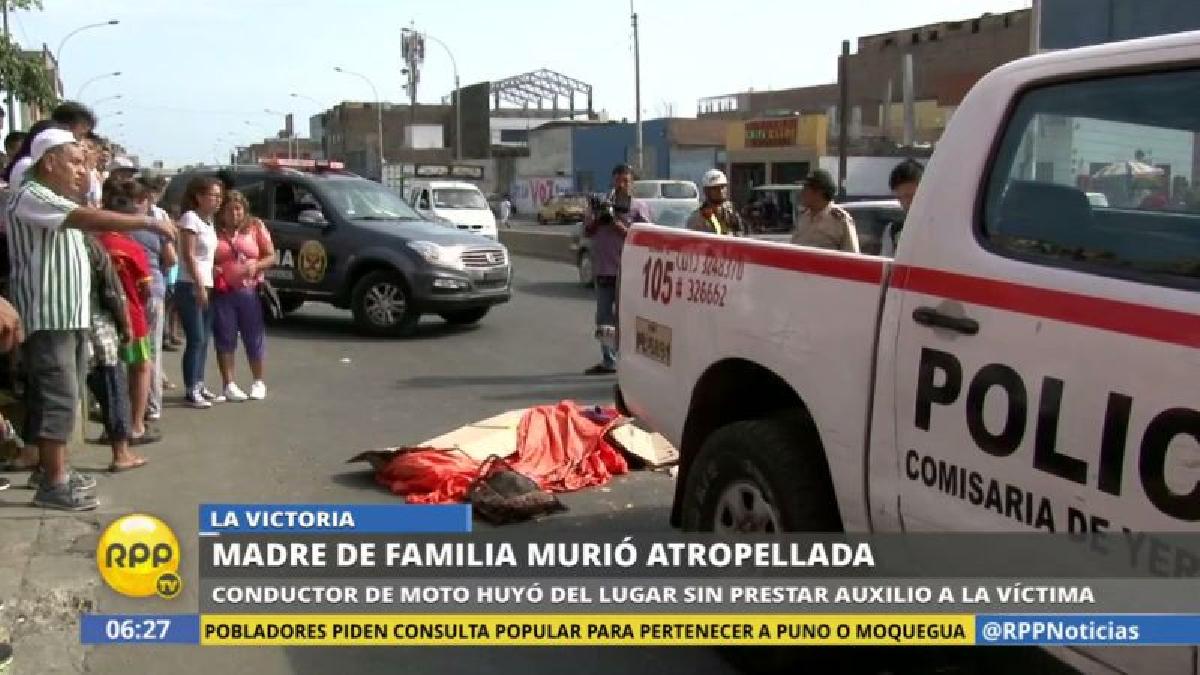 El motociclista autor del accidente escapó del lugar y es buscado intensamente.