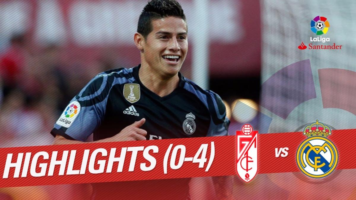 Real Madrid goleó por 4-0 al Granada en su último partido de visitante.
