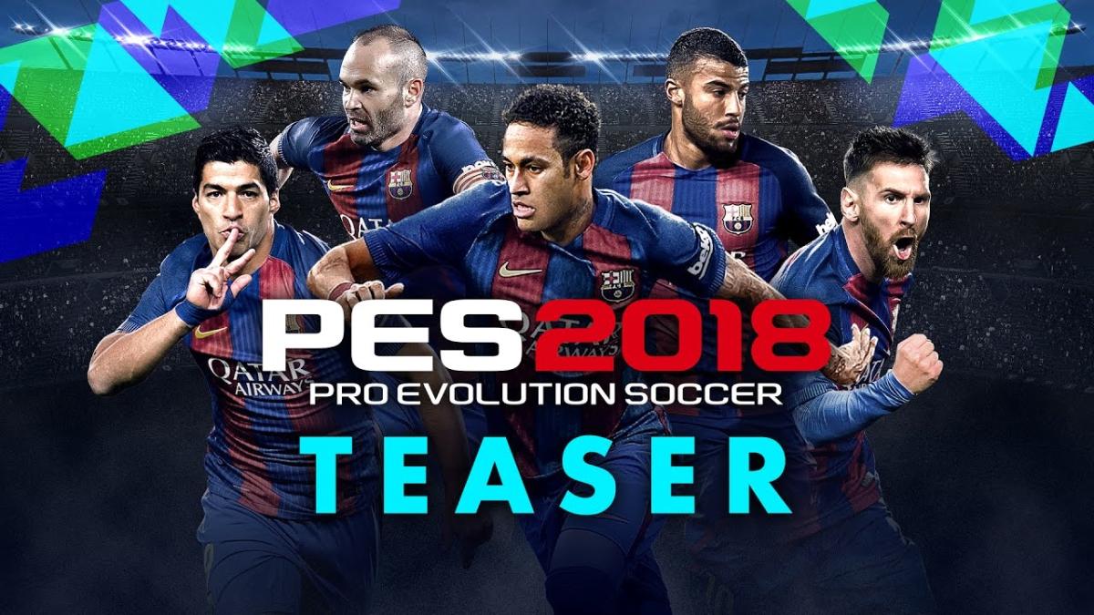 El teaser de PES 2018 es protagonizado por los jugadores del Barcelona.