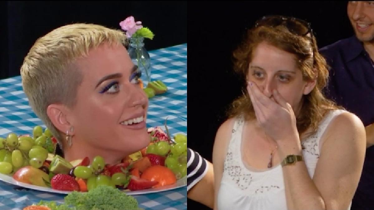De esa forma Katy Perry sorprendió a sus fans.