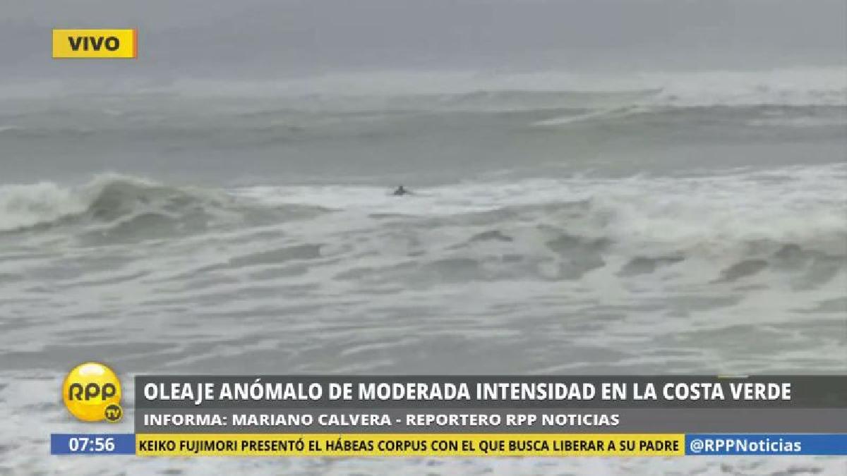 Este oleaje anómalo se registrará en nuestro mar hasta la madrugada del lunes 22 de mayo.