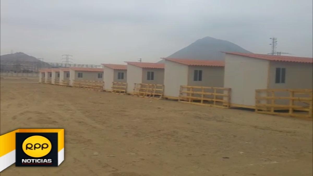 Viviendas ya se encuentran ubicadas en terreno brindado por el gobierno regional.