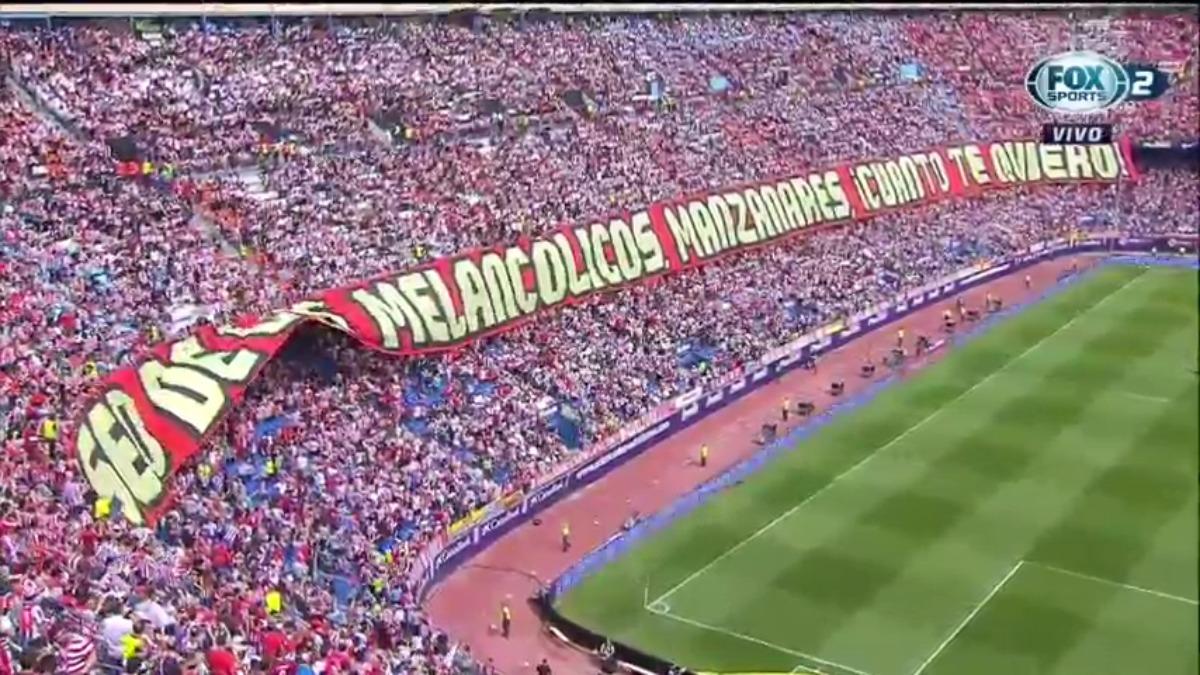 Atlético de Madrid ganó en su último partido jugado en el Vicente Calderón.