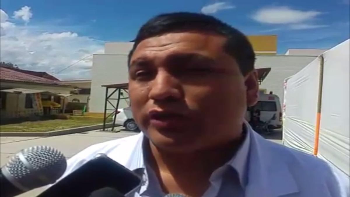 Juan Valencia Hipólito, director de la Dirección Regional de Salud de Cajamarca.