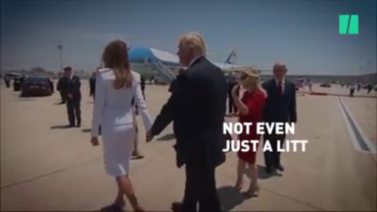 Donald Trump y sus saludos.