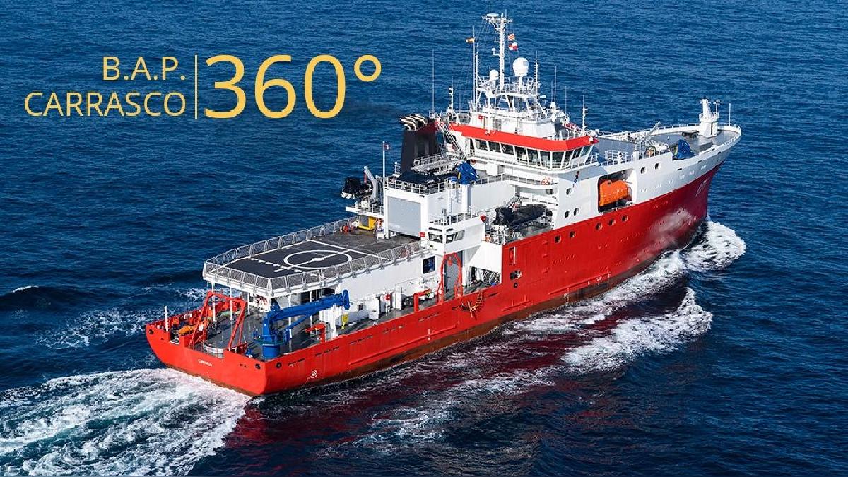 Así es por dentro el Buque Armada Peruana (B.A.P.) Carrasco. Fue construido en los astilleros de Freire Shipyard de Vigo (España) en 2016.