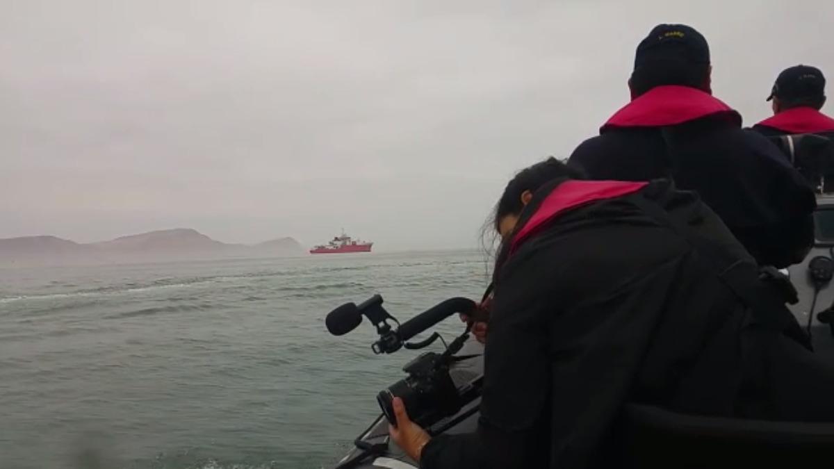 Así se realizó el video 360 de RPP Noticias en el Buque Amador Carrasco