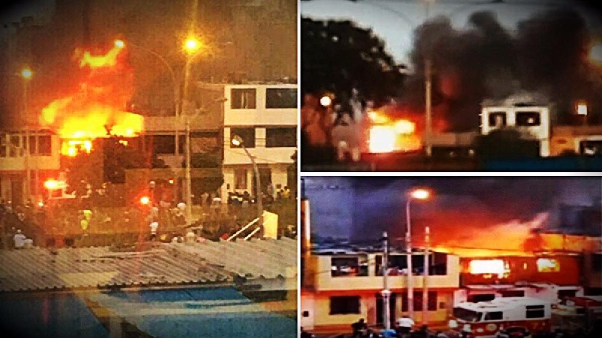 El incendio fue controlado por 8 unidades de los bomberos con el apoyo de una cisterna.