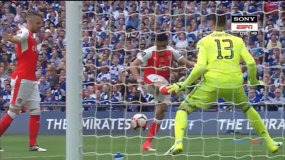 Alexis Sánchez marcó apenas a los 3 minutos de juego en la final de la FA Cup.