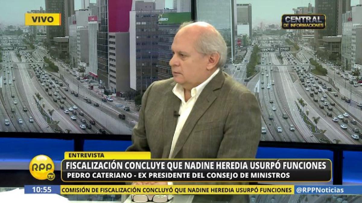 Pedro Cateriano cuestionó que un sector del fujimorismo haya pedido la renuncia de Martín Vizcarra a la Vicepresidencia.