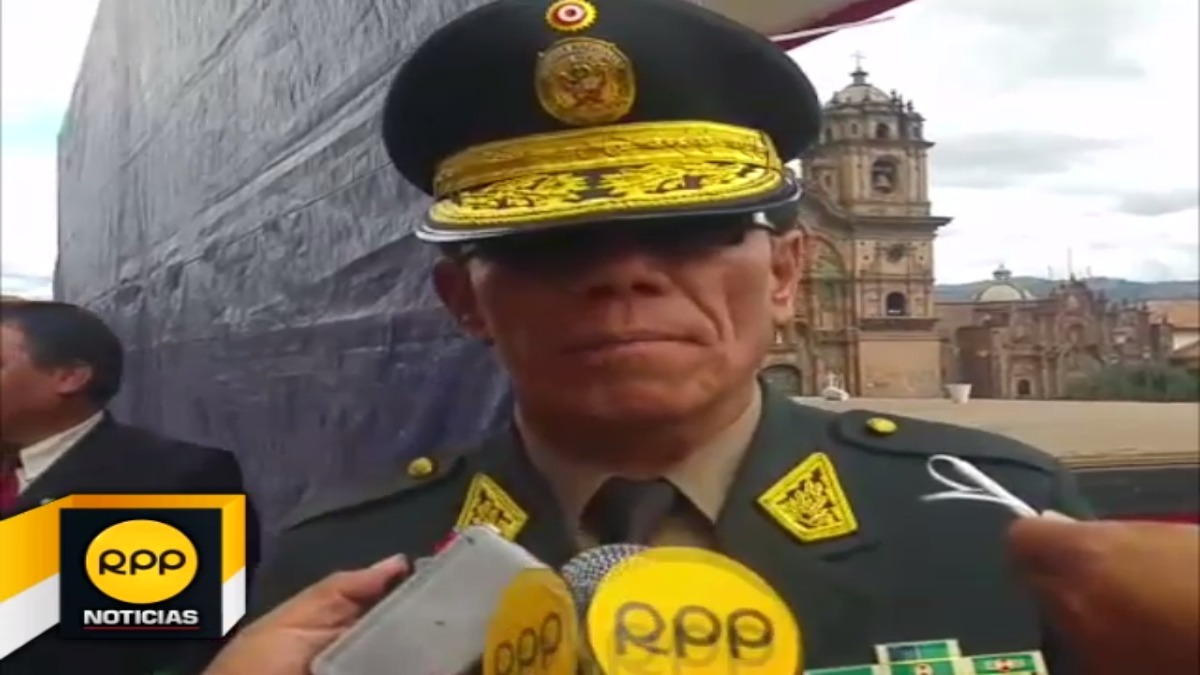 Director de la Macro Región Policial Cusco-Apurímac, general Max Iglesias, garantizó seguridad ante posible paralización.