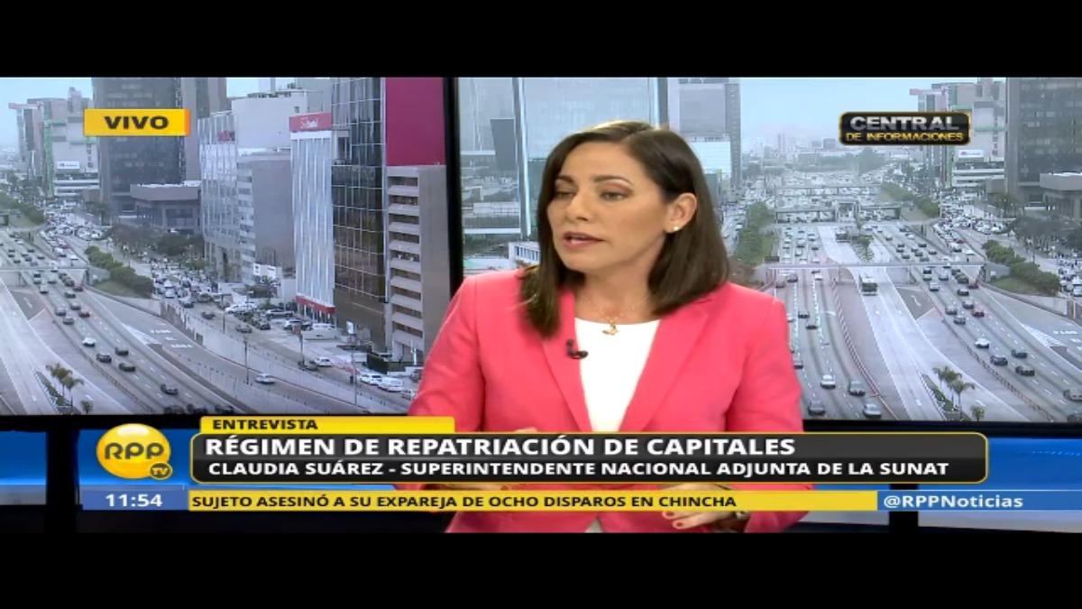 Claudia Suárez explica el régimen de repatriación de capitales.