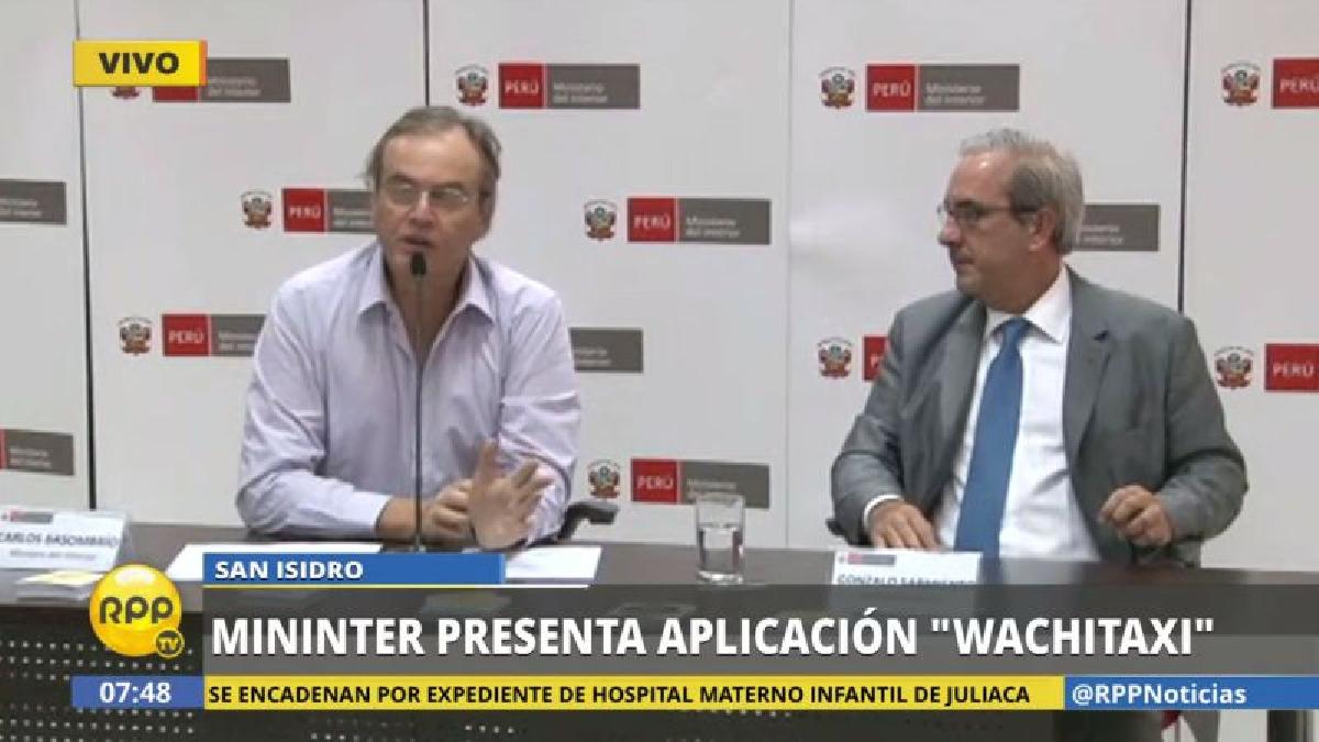 Carlos Basombrío presidió la conferencia de presentación de esta nueva herramienta contra la inseguridad ciudadana.
