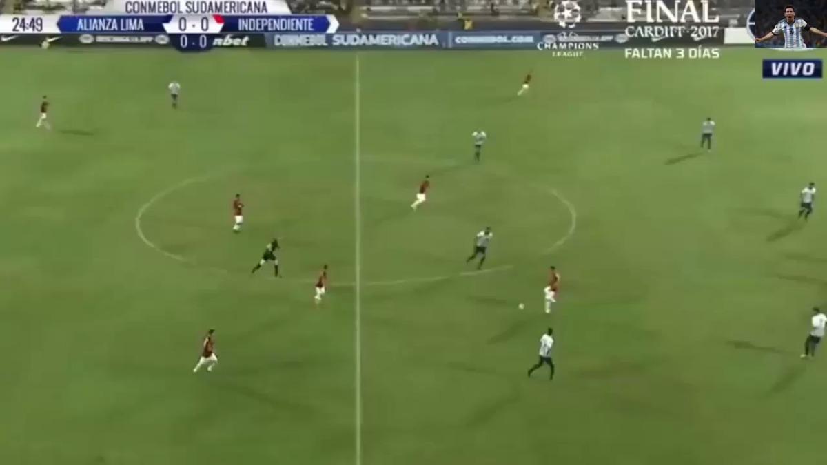 Alianza Lima recibió el gol a los 31 minutos del encuentro en Matute.
