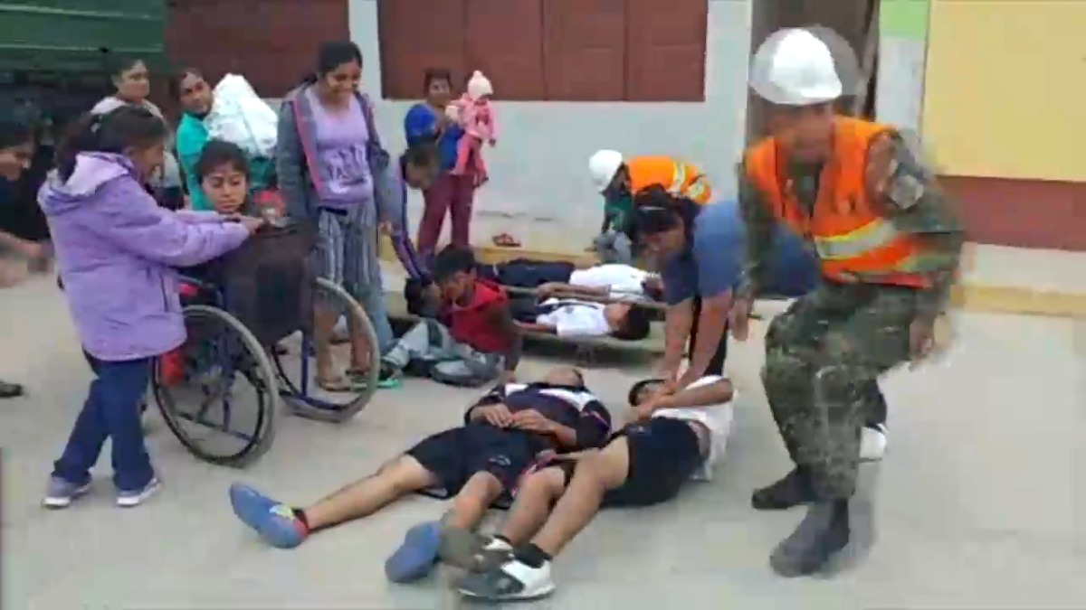 Simulacro de sismo en Chiclayo.