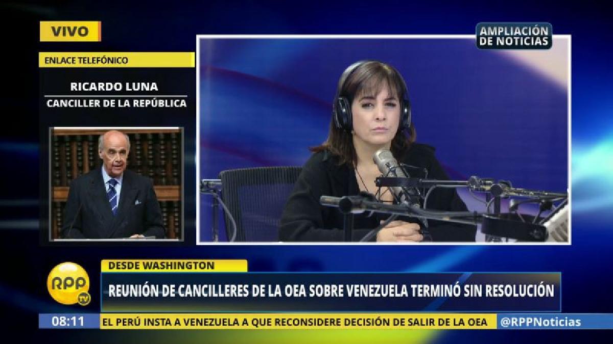 """Ricardo Luna aseguró que hay """"una evolución palpable"""" en la postura de Ecuador y varios países del Caribe sobre la crisis en Venezuela."""