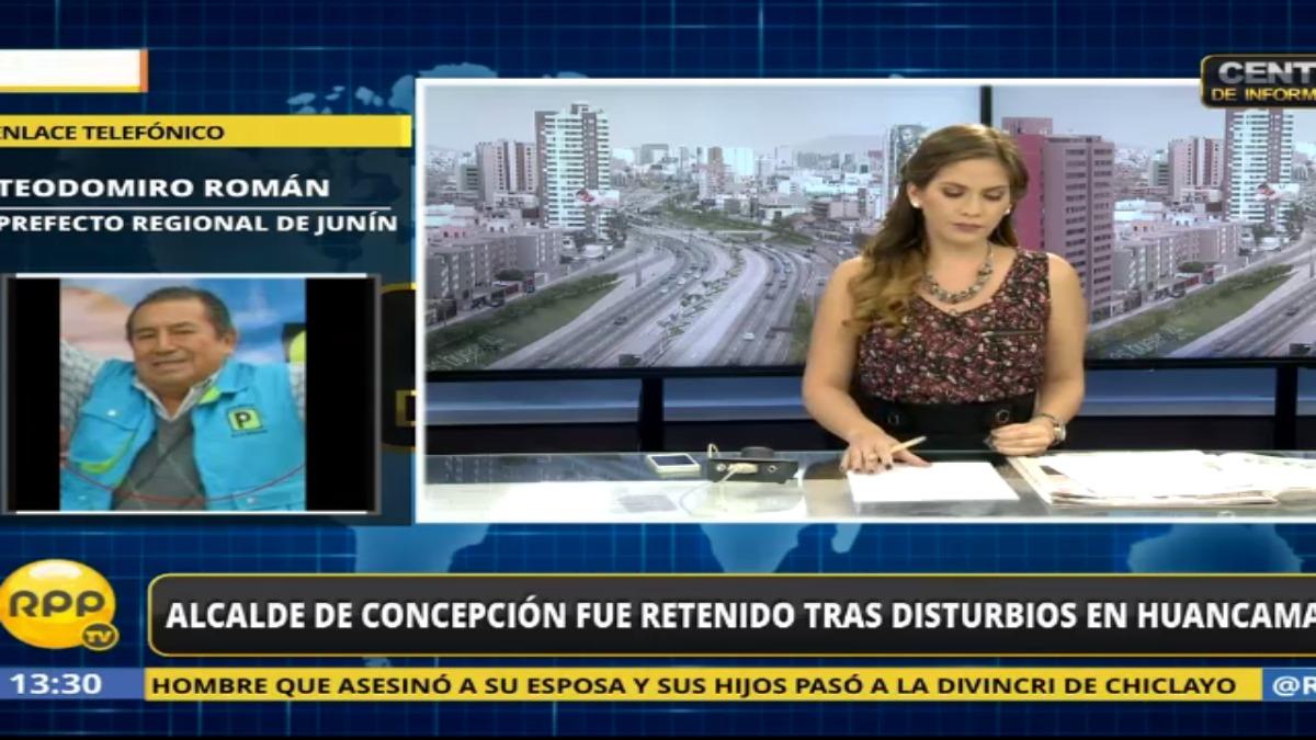 Entrevista al prefecto regional de Junín, Teodomiro Rodríguez.