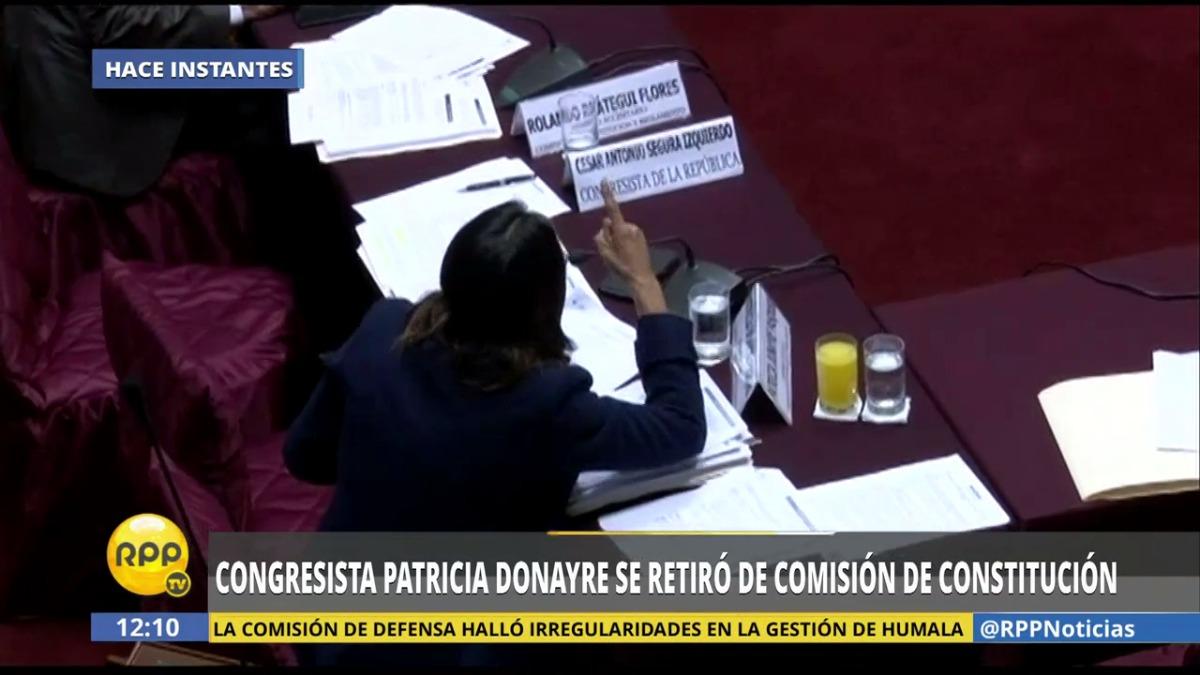 Así fue el incidente protagonizado por Miguel Torres y Patricia Donayre en la comisión de Constitución