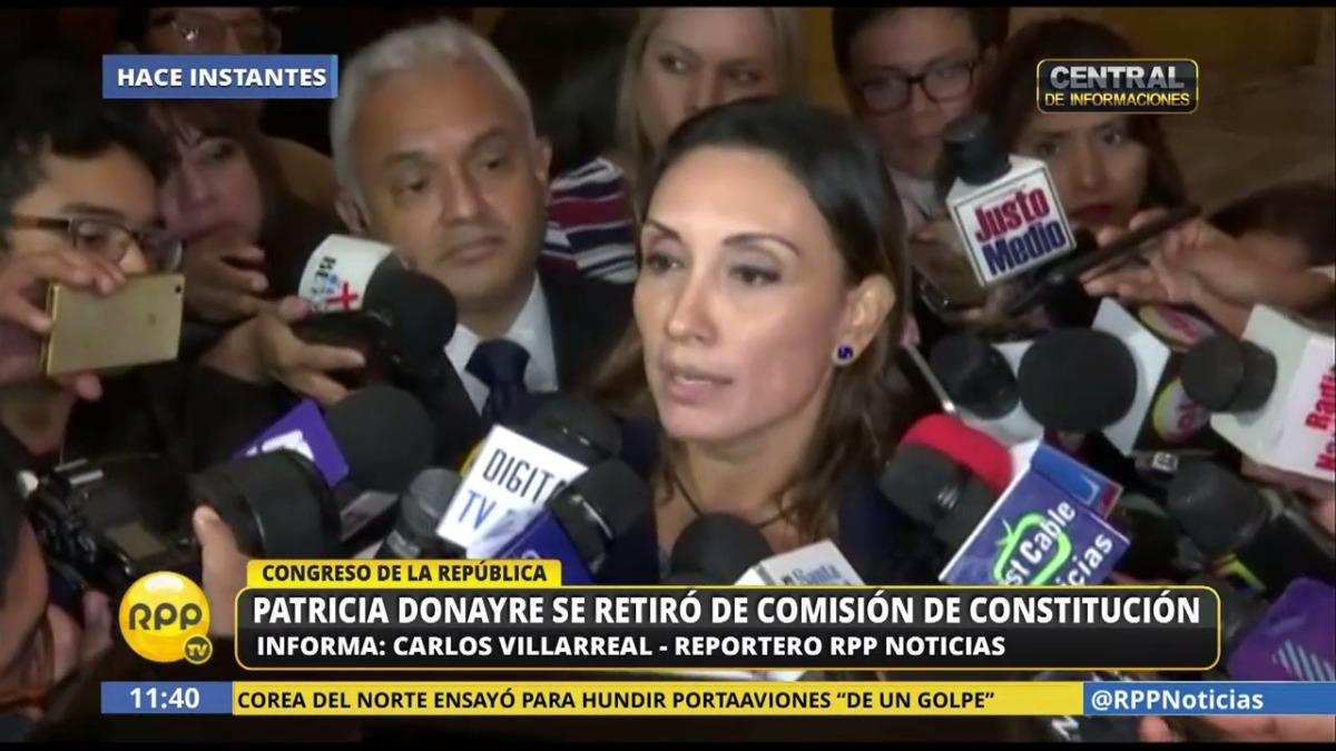 Donayre dijo que solo volverá a la Comisión cuando haya un compromiso claro de Miguel Torres para aprobar una Reforma Electoral integral.