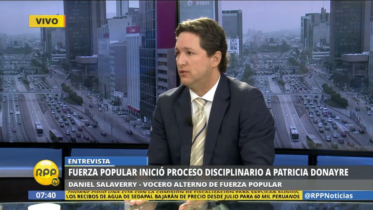 Salaverry también habló sobre la discusión entre Patricia Donayre y Miguel Torres, congresistas de su bancada.