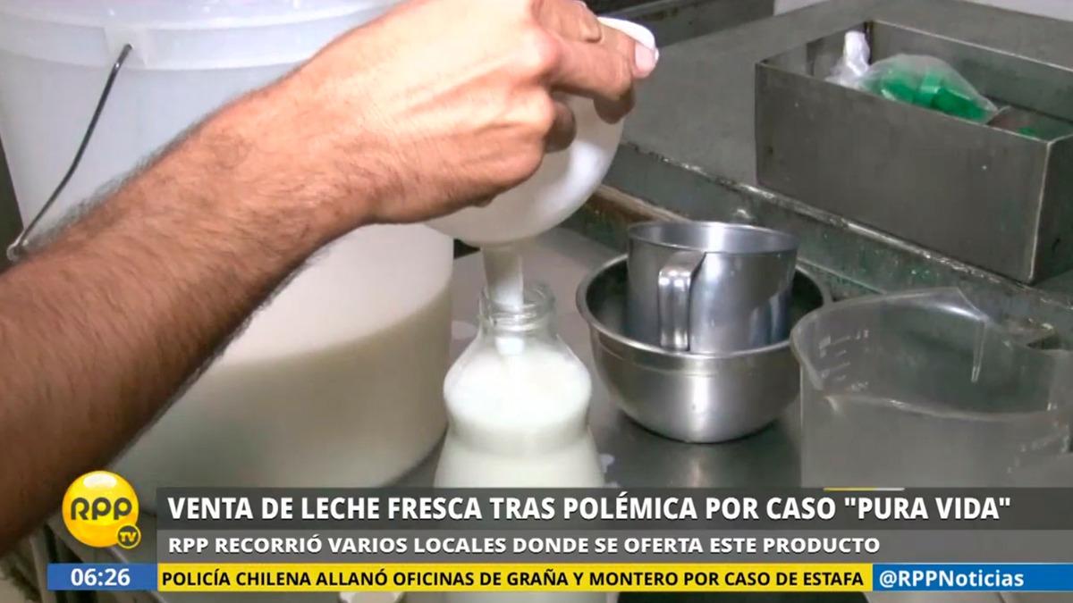 Conoce locales en Lima donde se vende leche fresca.