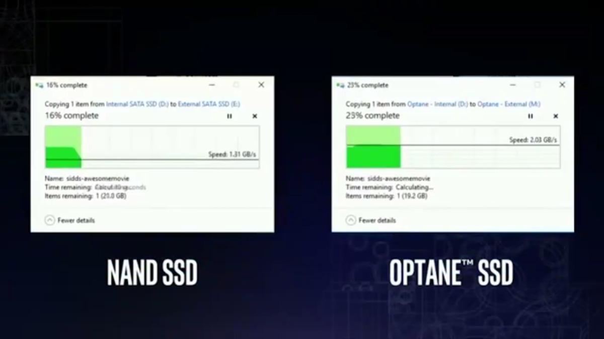 Una demostración de 2016 con un SSD en China. La diferencia con un disco mecánico es aún mayor.