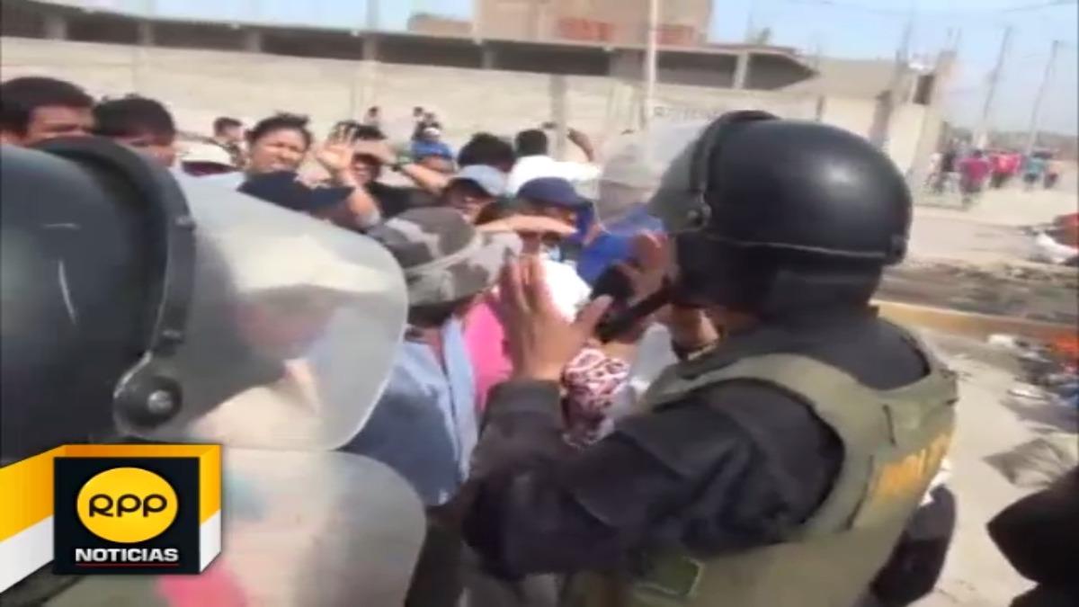 Pobladores bloquearon por unos momentos la Avenida Chiclayo
