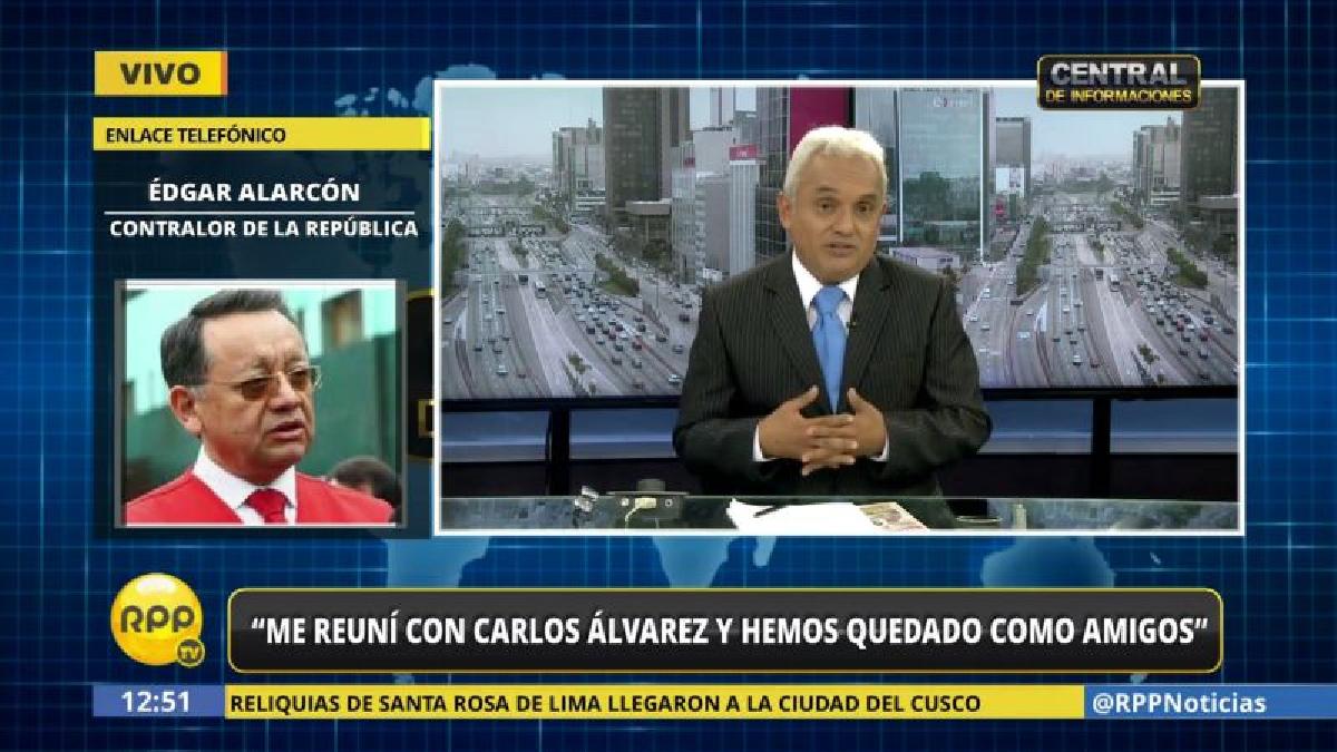 Edgar Alarcón reveló que se reunió con Carlos Álvarez y dieron por superado el impasse.