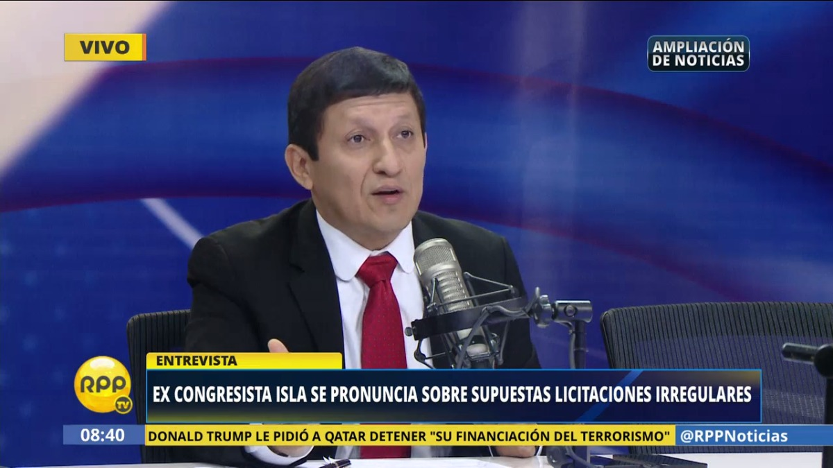 El excongresista negó en RPP Noticias que sea su voz la registrada en el audio.