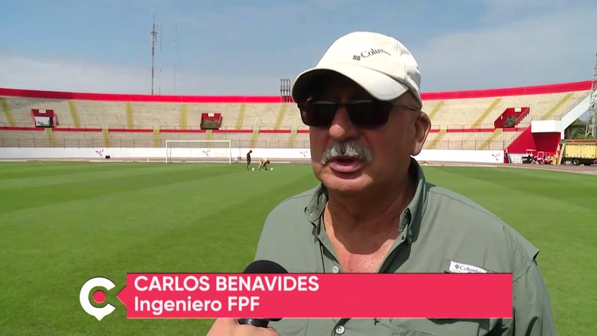 Así se logró que el campo del Estadio Mansiche de Trujillo llegue en perfectas condiciones para el Perú vs. Paraguay.