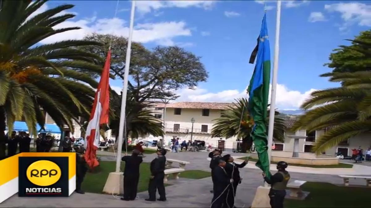 La provincia de Cajambamba hoy izó la bandera a media asta, en señal de duelo por la muerte de Luis Abanto Morales, su hijo ilustre