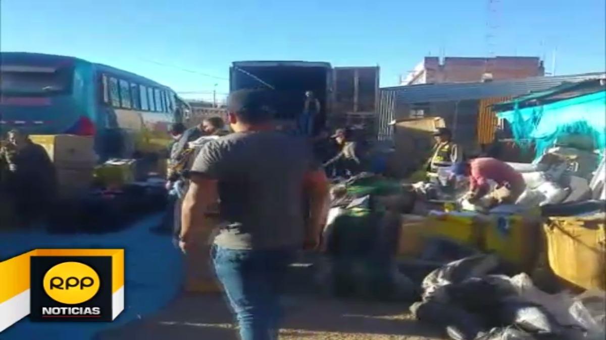 Productos sin la documentación respectiva se encontraban al interior de un camión que provenía de Lima.